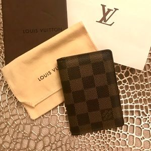 Auth Louis Vuitton Damier Ebene Pocket Organiser